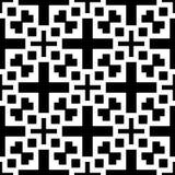 Fundo branco e teste padrão repeted preto Imagens de Stock Royalty Free
