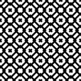 Fundo branco e teste padrão repeted preto Fotografia de Stock Royalty Free