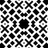 Fundo branco e teste padrão repeted preto Imagens de Stock