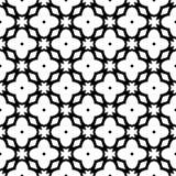 Fundo branco e teste padrão repeted preto Foto de Stock Royalty Free