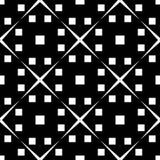 Fundo branco e teste padrão repeted preto Imagem de Stock Royalty Free