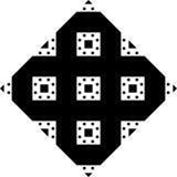 Fundo branco e teste padrão repeted preto Foto de Stock
