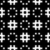 Fundo branco e teste padrão repeted preto Fotografia de Stock