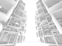 Fundo branco futurista do projeto da arquitetura Fotografia de Stock