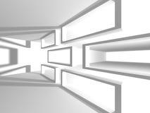 Fundo branco futurista do projeto da arquitetura Imagem de Stock