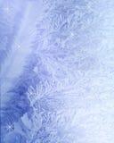 Fundo branco gelado Foto de Stock Royalty Free