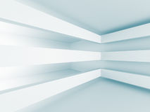 Fundo branco geométrico do projeto moderno da arquitetura Imagens de Stock Royalty Free