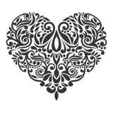 Fundo branco isolado barroco do coração do vetor fotos de stock