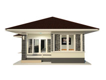 Fundo branco isolado casa Imagens de Stock
