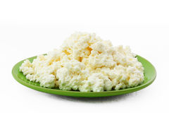 Fundo branco isolado do marmelo folha fresca Imagem de Stock