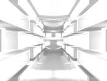 Fundo branco moderno abstrato da arquitetura Imagens de Stock Royalty Free
