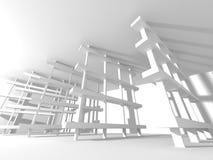 Fundo branco moderno abstrato da arquitetura Imagem de Stock