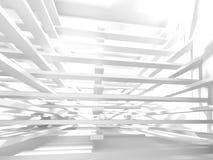 Fundo branco moderno abstrato da arquitetura Fotos de Stock Royalty Free