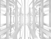 Fundo branco moderno abstrato da arquitetura Fotos de Stock