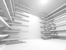 Fundo branco moderno abstrato da arquitetura Fotografia de Stock