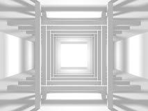 Fundo branco moderno abstrato da arquitetura Imagens de Stock