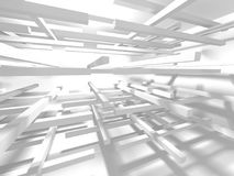 Fundo branco moderno abstrato da arquitetura Foto de Stock Royalty Free