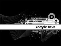 Fundo branco preto Imagem de Stock
