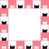 Fundo branco preto do rosa da beira da placa de Cat Chess Ilustração do vetor ilustração stock