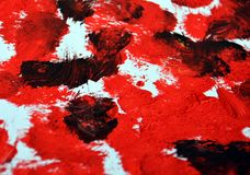 Fundo branco preto vermelho do sumário da pintura, acrílico da aquarela que pinta o fundo abstrato imagem de stock royalty free