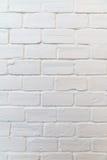 Fundo branco quadrado da parede de tijolo Imagens de Stock Royalty Free