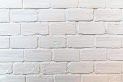 Fundo branco quadrado da parede de tijolo Fotos de Stock