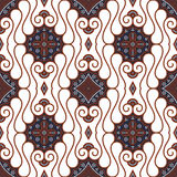 Fundo branco sem emenda do Batik de Brown Imagens de Stock Royalty Free