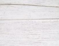 Fundo branco sujo da madeira natural Imagens de Stock