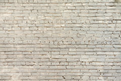 Fundo branco velho da parede de tijolo Imagem de Stock Royalty Free