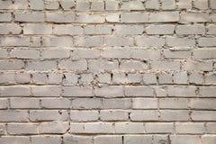 Fundo branco velho da parede de tijolo fotografia de stock