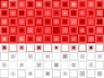Fundo branco vermelho da telha Foto de Stock