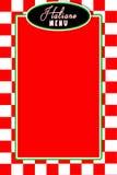 Fundo branco vermelho do checkerd do menu de Italiano Fotografia de Stock Royalty Free