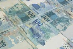 Fundo brasileiro do dinheiro As contas chamaram Real Foto de Stock Royalty Free