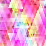 Fundo brilhante abstrato do triângulo Imagens de Stock Royalty Free