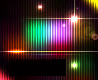 Fundo brilhante abstrato escuro do espectro de tecnologia Fotografia de Stock