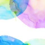 Fundo brilhante colorido da aquarela ilustração do vetor