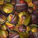 Fundo brilhante colorido das esferas ilustração royalty free