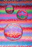 Fundo brilhante com vidro   fotografia de stock