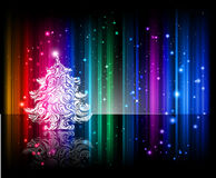 Fundo brilhante da noite de Natal Fotos de Stock Royalty Free
