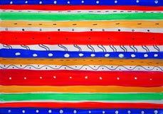 Fundo brilhante de linhas horizontais coloridos Foto de Stock Royalty Free