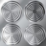 Fundo brilhante do metal com grande teste padrão do círculo Fotos de Stock