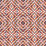 Fundo brilhante do mosaico do vitral Teste padrão sem emenda com o ornamento geométrico do caleidoscópio Papel de parede Checkere ilustração do vetor