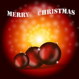 Fundo brilhante do Natal Fotos de Stock Royalty Free