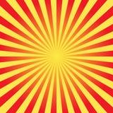 Fundo brilhante do raio do vetor do sol Imagens de Stock