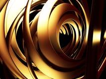 Fundo brilhante do teste padrão dourado luxuoso dos cirrcles Fotografia de Stock