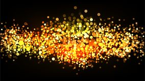 Fundo brilhante do vetor do brilho do ouro Fotografia de Stock