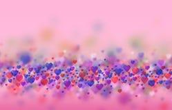 Fundo brilhante dos corações Fotografia de Stock