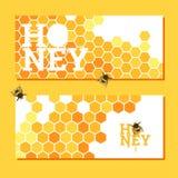 Fundo brilhante dos favos de mel Foto de Stock Royalty Free