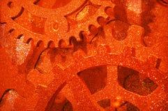 Fundo brilhante dourado abstrato do maquinismo de relojoaria Foto de Stock Royalty Free