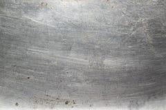 Fundo brilhante riscado da textura do metal Fotografia de Stock Royalty Free